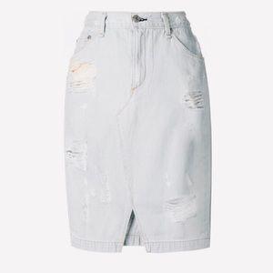White Rag & Bone Knee Length Skirt